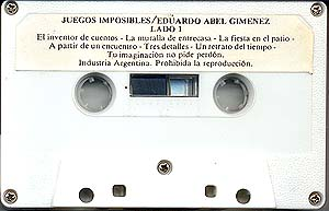 Lado 1 del cassette