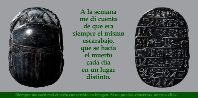 Skarabæ med hieroglyfindskrift. Ægyptisk, Sentiden