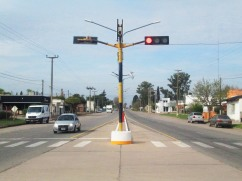 Otro semáforo sobre la ruta 12.