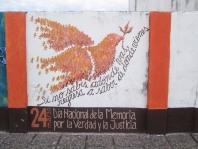 Mural en la pared del teatro.