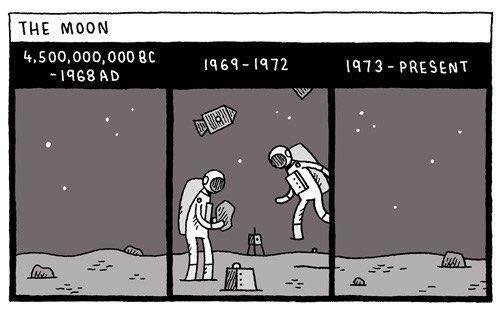 22 Tom Gauld en la Luna