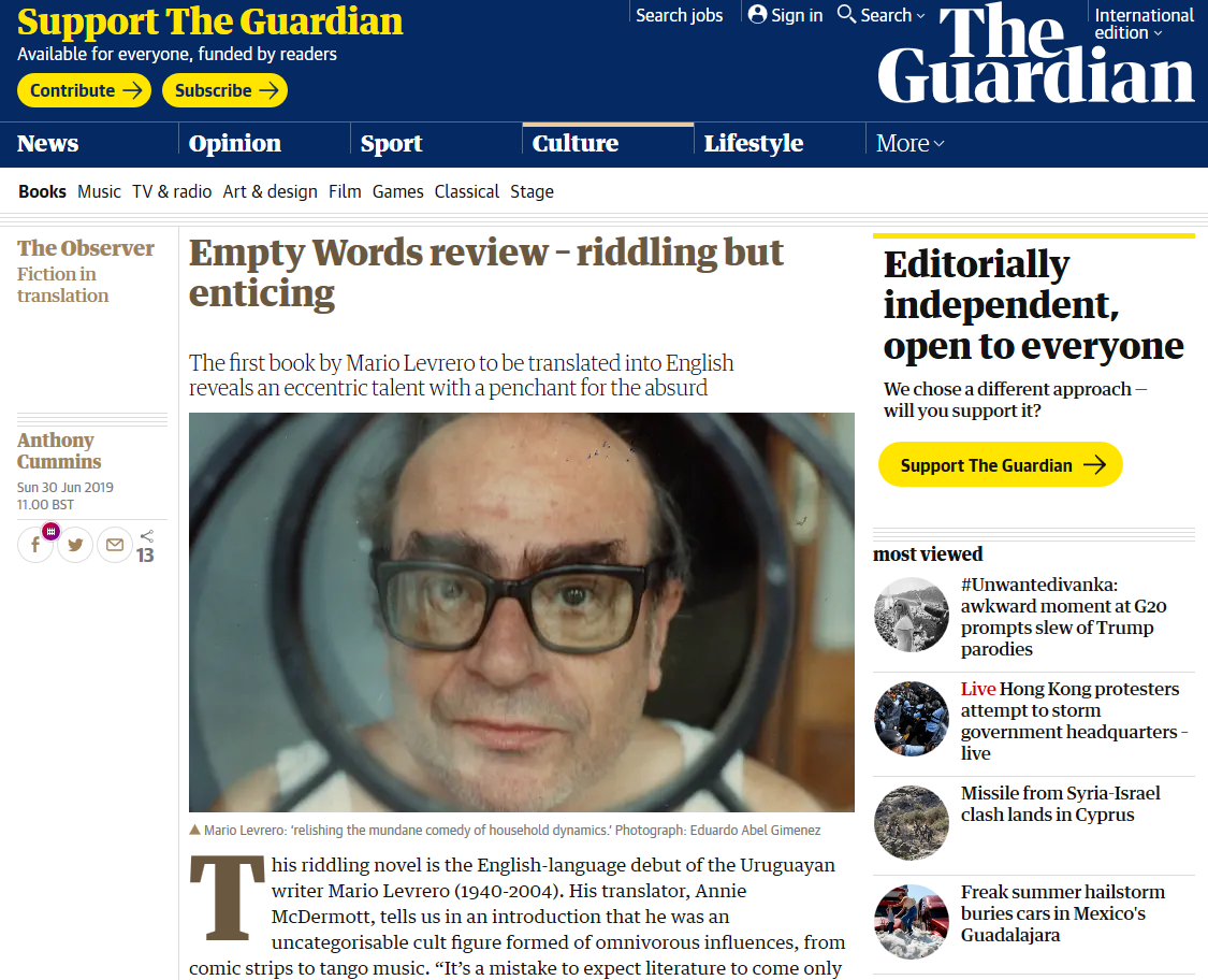 The Guardian - Empty Words review